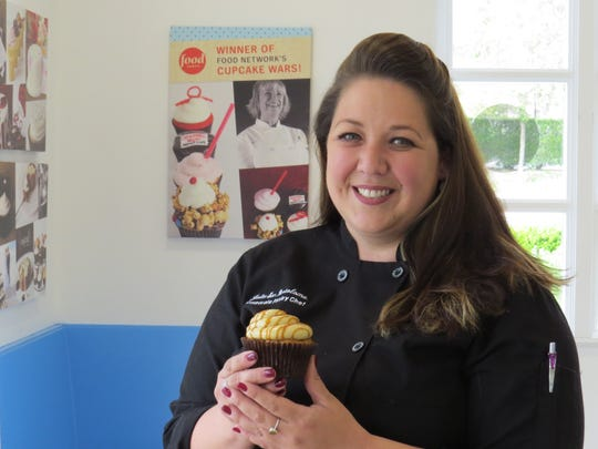 Julia San Bartolome, pastry chef and co-owner of Sweet Arleen's in Westlake Village, will compete Sunday in the Strawberry Smackdown contest at the California Strawberry Festival in Oxnard.