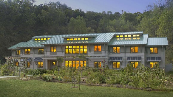 The iconic EcoDorm at Warren Wilson College,  achieved LEED Platinum Certification (Existing Buildings) in 2009.