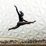 LSU's Lloimincia Hall preforms on the beam during the Centenary gymnastics meet on Friday night at the Gold Dome. Hall scored a perfect 10 in the floor exercises.