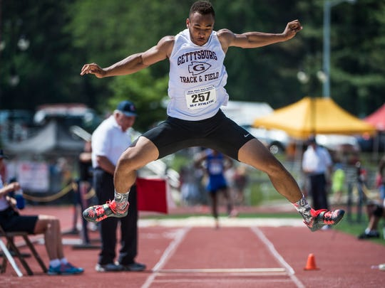 Gettysburg's Ravaughn Dillard won back to back state titles in the triple jump in 2015 and 2016.