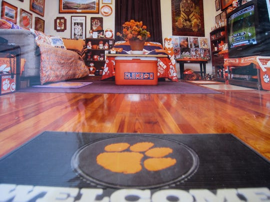 Tony Stephens' living room is a museum-like tribute