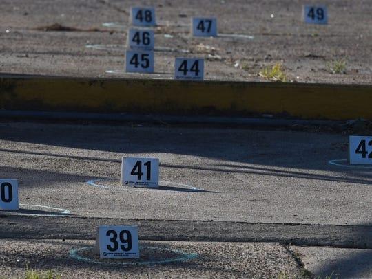 A crime scene in Shreveport.
