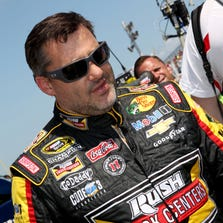 NASCAR Sprint Cup Series driver Sprint Cup Series driver Sprint Cup Series driver Tony Stewart (14) during practice for the Cheez-It 355 at Watkins Glen International. Mandatory Credit: Timothy T. Ludwig-USA TODAY Sports