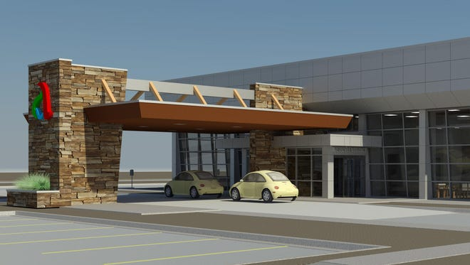 Rendering of Abrazo's planned microhospital in Mesa.