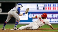 Jorge Alfaro hit a go-ahead, three-run homer in the sixth inning and the Philadelphia Phillies rallied past the New York Mets 5-2 to boost their faint playoff hopes