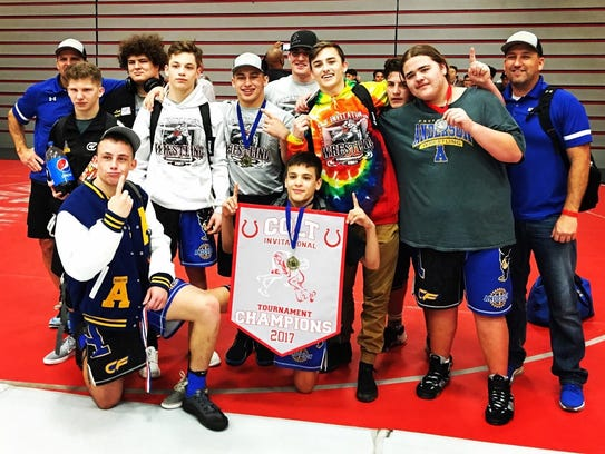 Anderson High School's wrestling team won the tournament
