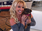 Britney Spears introduced her precious new pup Hannah to her Instagram followers.