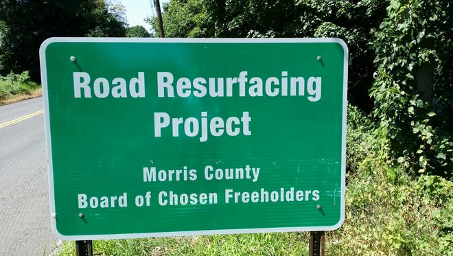 Morris County road work.