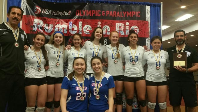 The 915 United 15U team won the Sun Country Region Volleyball Association Championship in Albuquerque on May 1. The team, which has won back-to-back Sun Country championships, now advances to the 2016 USA Volleyball Girls' Junior National Championships on June 24 to July 3 at the Indiana Convention Center in Indianapolis. The team is hosting a golf tournament at 1 p.m. June 4 at Vista Hills Country Club, 2210 Trawood, as a fundraiser for the trip. Registration is at noon and will cost $65. Information: 494-1752; 422-7932.