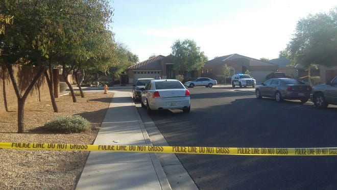 Phoenix police were at the scene of a shooting involving a police officer after a burglary call on Feb. 1, 2018, in Tolleson.