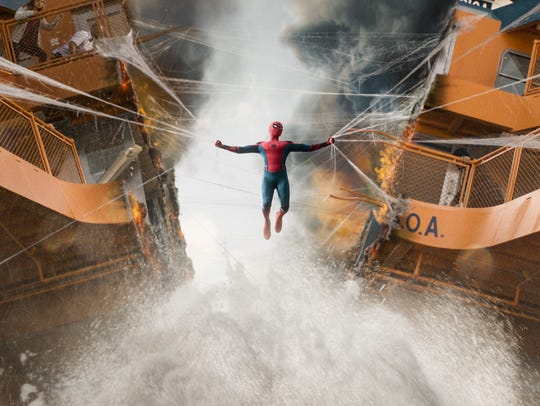 "Spider-Man struggles to pull a ferry together in ""Spider-Man:"