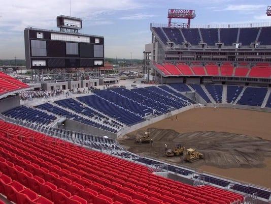 Tennessee Titans team tour Titans Stadium