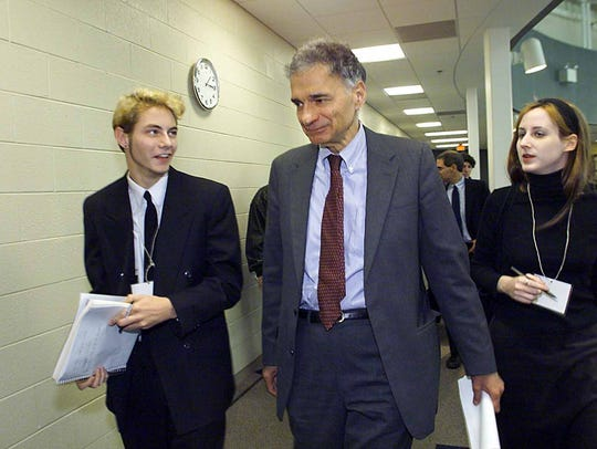 FILE-- Ralph Nader at the University of Michigan-Dearborn