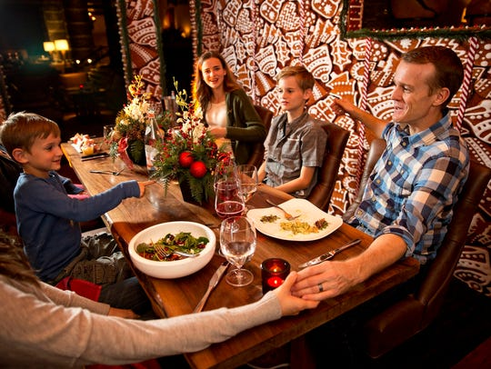 The roomy gingerbread house at Ritz-Carlton, Dove Mountain can seat up to six diners.