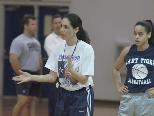 Carroll girls basketball coach Leticia Canales starts four seniors.