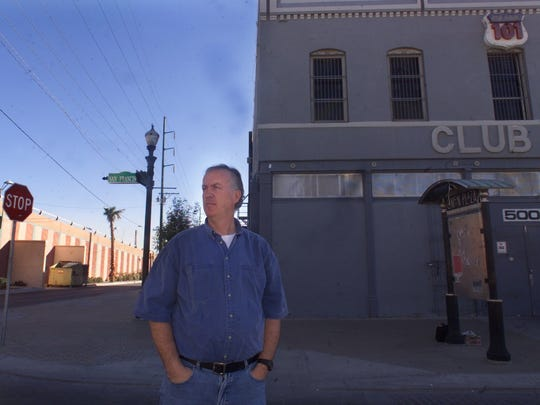 Former Club 101 owner Joe Dorgan stands at the corner of San Francisco Avenue and Durango Street, where the longtime El Paso nightlife staple originally was located.