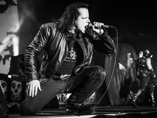 Glenn Danzig performs with the Original Misfits at the Forum in Inglewood, California, on Dec. 30. The band, which formed in Lodi in 1977, will play its first area show in 35 years at the Prudential Center on May 19. The show is sold out.