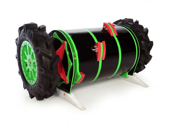 The 250-pound Axe Backwards combat robot.