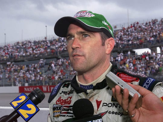 Bobby Labonte was interviwed trackside at the Southern