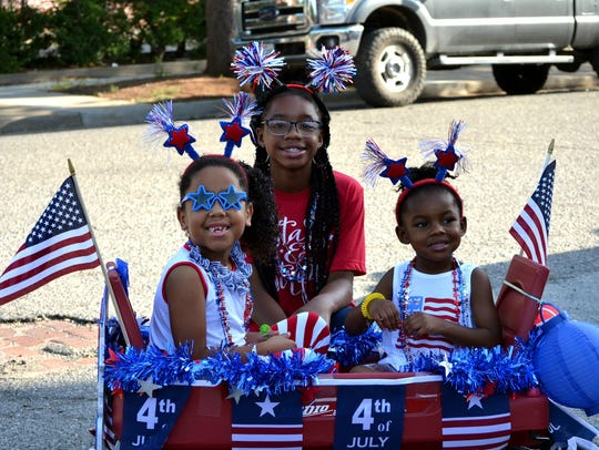 Young and old got decked out in their red-white-and-blue