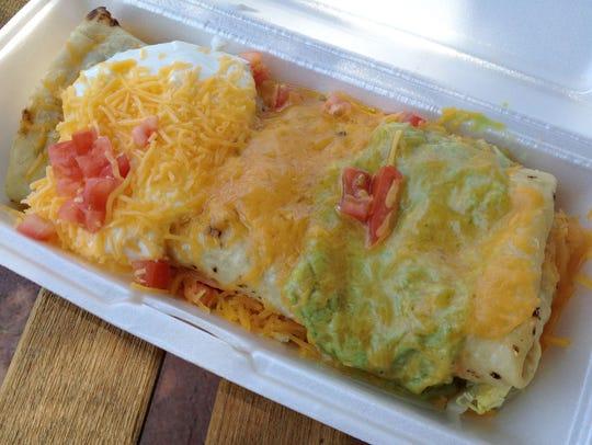 The green chile burrito, chimichanga style, at Rito's