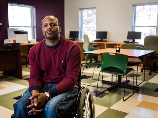 Jonathan Wilson runs a GED tutoring program in Wilmington.