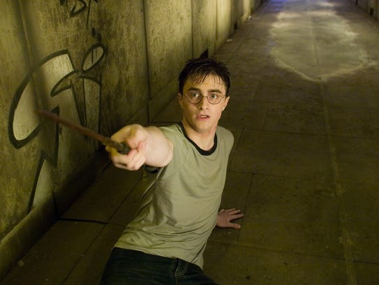 """Daniel Radcliffe as Harry Potter in the movie """"Harry"""