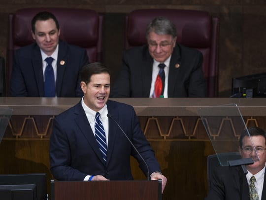 Gov. Doug Ducey delivers his State of the State address.