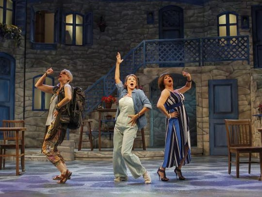 "Phoenix Theatre's ""Mamma Mia!"" features (from left)"