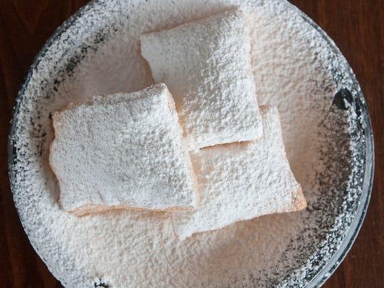 New Orleans-style beignets, sweet dough deep fried