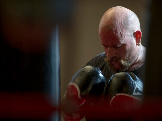 """Hoses fighter Rob """"Butterbean"""" Ralph, has fought in nine out of nine Guns and Hoses fights and is hoping to get another fight against a Guns team member."""