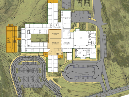 Additions to Page Middle School would add 20 classrooms.