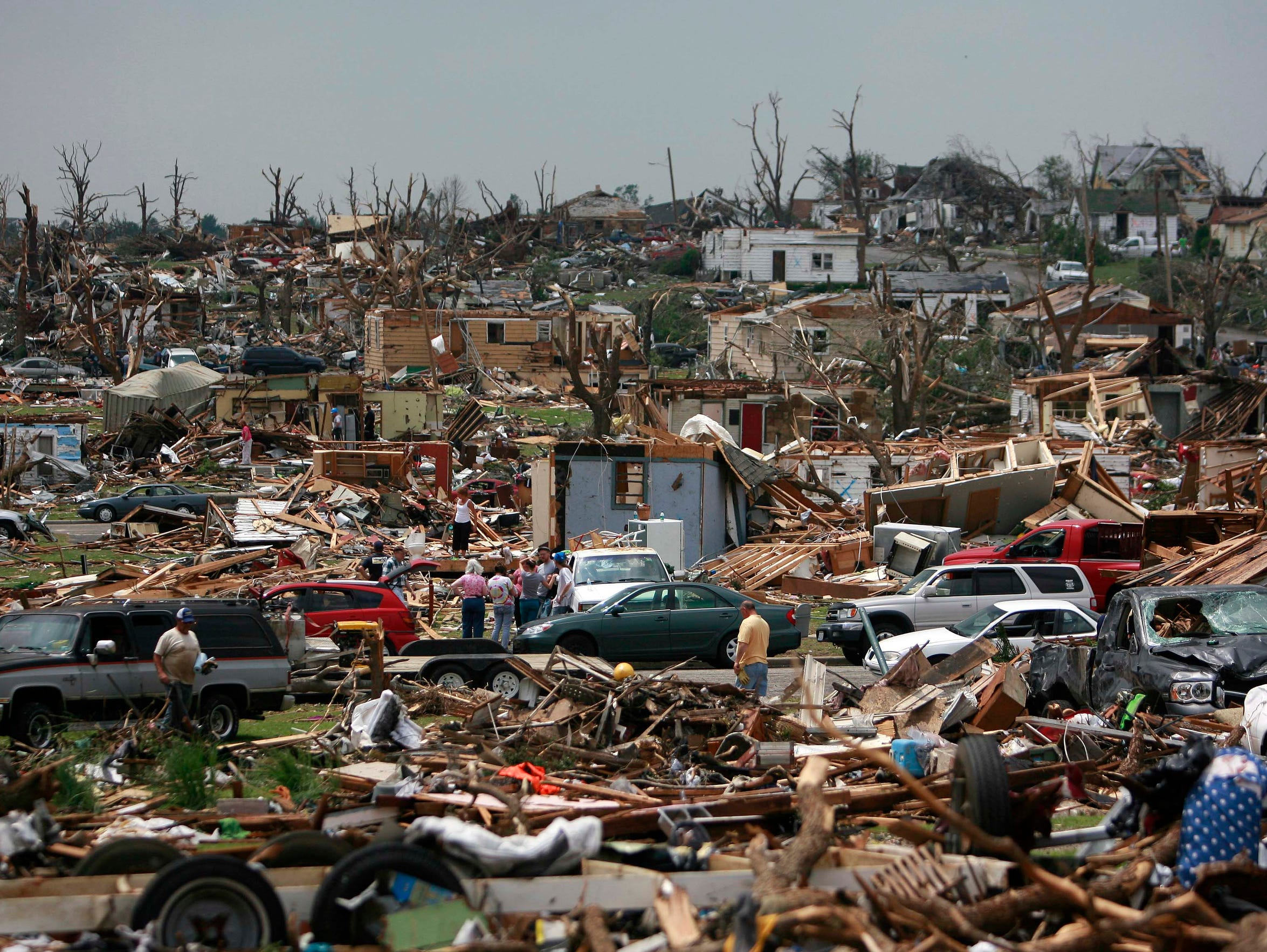 Destruction on Tuesday, May 24, 2011 left by a tornado