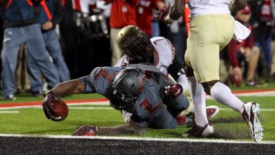 This Gerald Christian touchdown catch put U of L up 21-0 on Florida State in the first half Thursday.