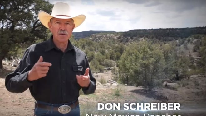 Rio Arriba County rancher Don Schreiber is featured in a new TV ad campaign that calls attention to royalties lost every year because of venting, flaring and leaking of natural gas during extraction operations on public lands.