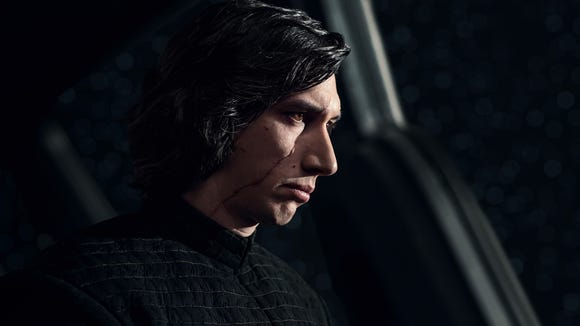 "In ""Star Wars: The Last Jedi,"" Adam Driver's Kylo Ren"