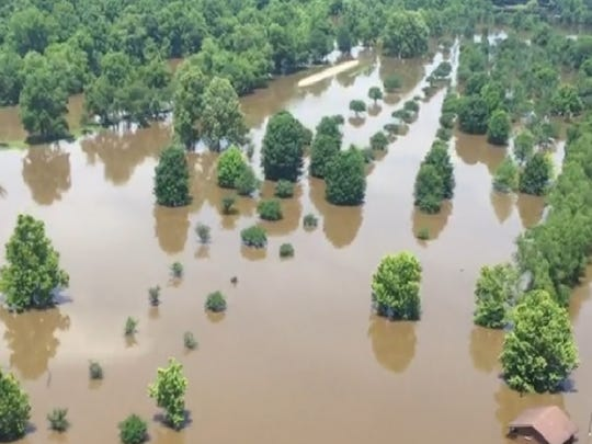 Flooding from the Red River has closed Fort Buhlow Recreation Area in Pineville.
