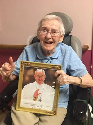 Maryknoll Sister Noel Divine will attend Pope Francis' vesper service on Thursday at St. Patrick's Cathedral, thanks to a social-media campaign.