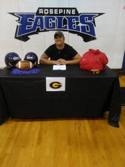 Rosepine's Lawrence Willis signed with Grambling Wednesday.
