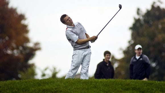 Dallastown senior Brandon Greenplate returns a year after leading the YAIAA Division I in average and being voted its golfer of the year. (GAMETIMEPA.COM -- FILE)