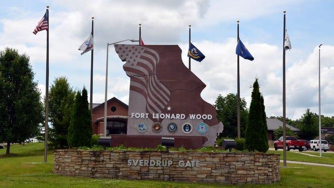The Missouri Rock at the main gate of Fort Leonard Wood.