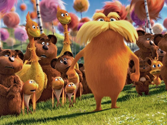 """A scene from """"The Lorax"""" movie."""