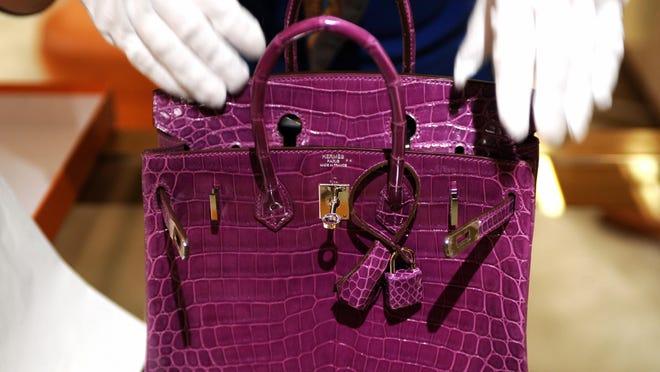 A Hermes crocodile skin Birkin bag.