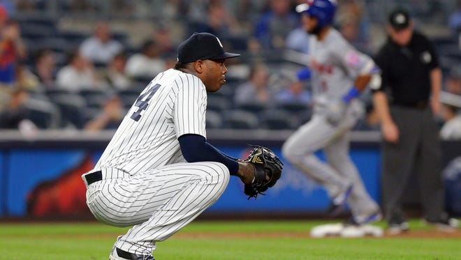 After losing more than 1 mph off his fastball, Aroldis Chapman's ERA is a career-worst 4.14.