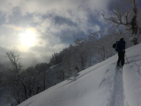 "A group of American skiers traveled to Hokkaido earlier this year to get a taste of the feather-light ""JaPow,"" a much different experience than our own ""Sierra Cement."""