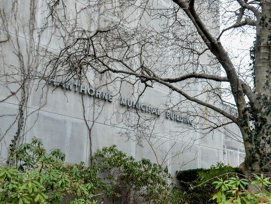 Hawthorne Borough Hall on Lafayette Avenue.