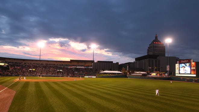 In this file photo, Frontier Field at sunset.