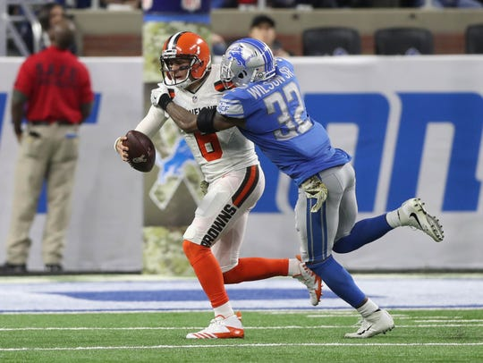 Nov. 12, 2017: The Lions injured Browns starting QB