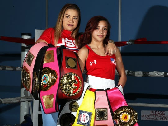 Crystal Aceves, left, with daughter, Kayla Gomez, 14, who is following her mother's footsteps into the ring.