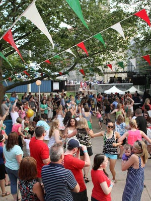 Several huge beer gardens and dance areas with live music stay packed during the 8-day festival.